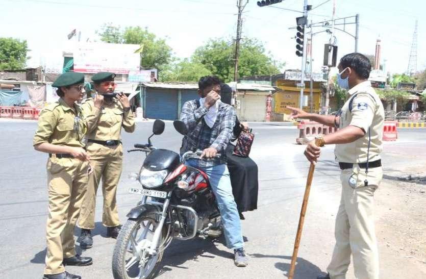 लॉकडाउन में नहीं मानी चेतावनी, नियम तोडऩे वाले 1241 लोगों से निगम और पुलिस ने वसूला 2.75 लाख रुपए जुर्माना