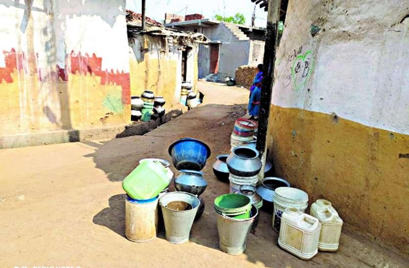 Water crisis deepens in Patel mercury of Pipariya ward of city