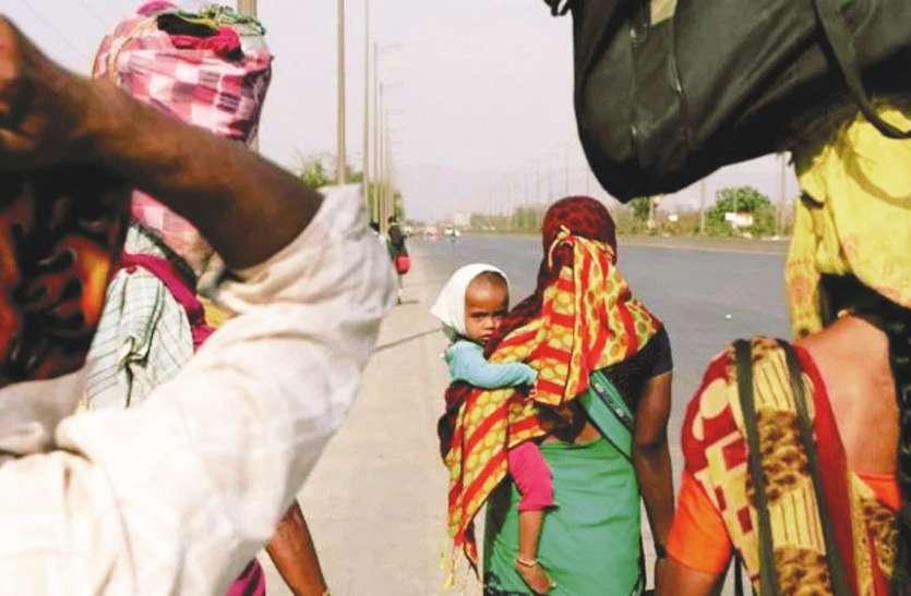 लॉकडाउन: राज्य की सीमा पर बनाए गए कैम्पों से भाग रहे मजदूर