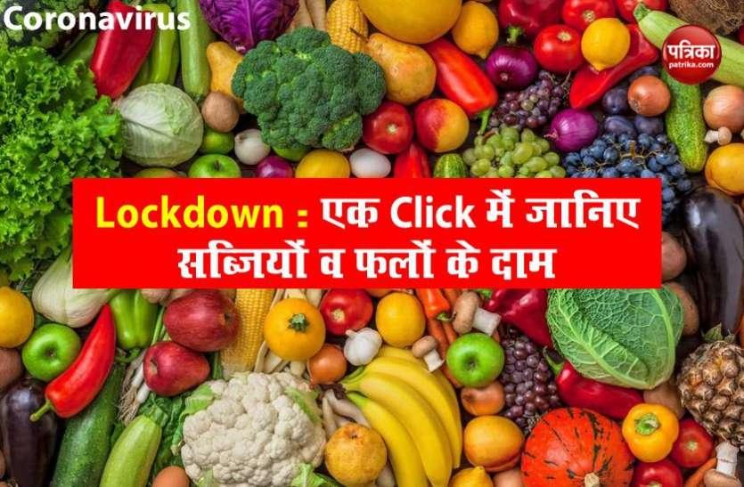 Vegetables Price: Lockdown 2.0 में गिरे सब्जियों व फलों के रेट, खरीदने से पहले जानिए नए दाम