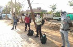 राजस्थान से लौटे मजदूरों को किया होम क्वारंटाइन