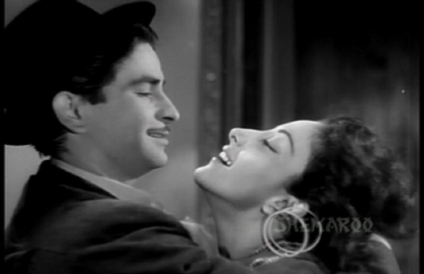 Nrgis Dutt and Raj Kapoor