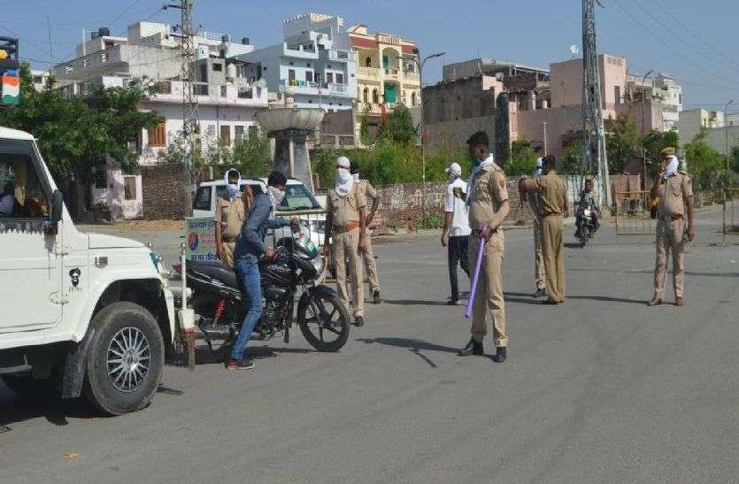 kishangarh_लॉकडाउन की पालना में जुटे रहे पुलिस जवान