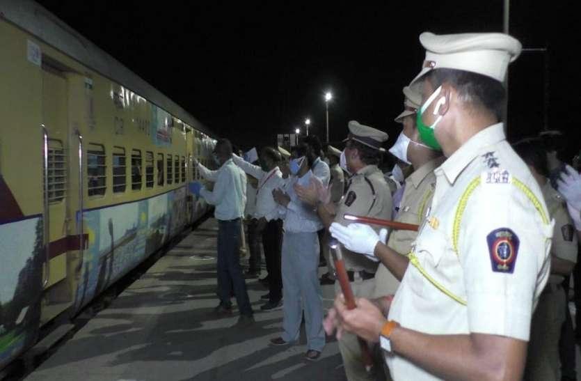 भिवंडी से जयपुर के लिए रवाना हुई विशेष ट्रेन, 1211 प्रवासी मजदूर चले गांव