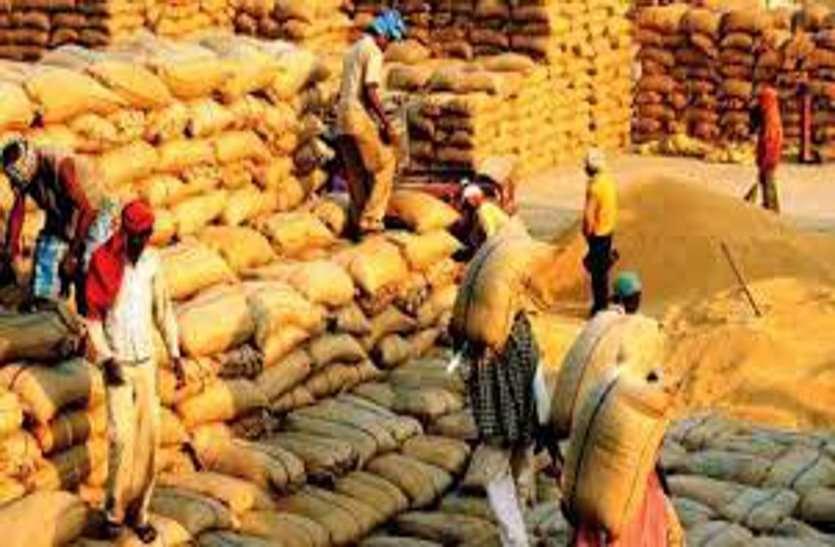 गेहूं बेचने के लिए सप्ताहभर से भूखे-प्यासे मंडी में पड़े किसान, अव्यवस्था से आक्रोश