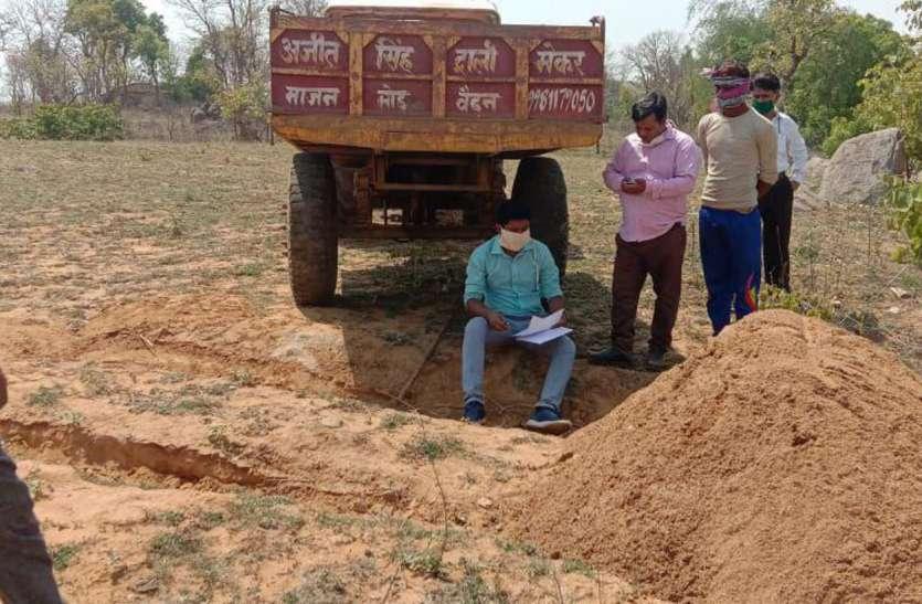 दिन दहाड़े रेत परिवहन पर राजस्व टीम की बड़ी कार्रवाई