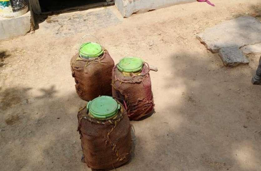 video news: जंगल में मिला कच्ची शराब का जखीरा, 5000 लीटर लाहन नष्ट