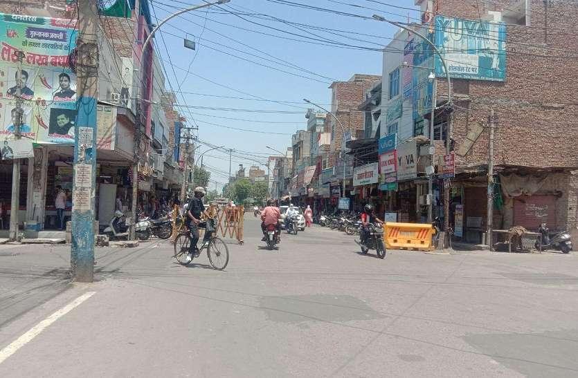 श्रीगंगानगर में अब पचास फीसदी ही खुलेगी दुकानें