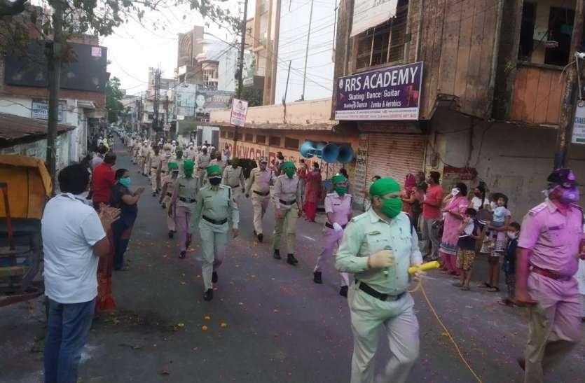 शहर में निकाली जागरुकता रैली तो कोरोना कर्मवीरों का इस तरह हुआ सम्मान...