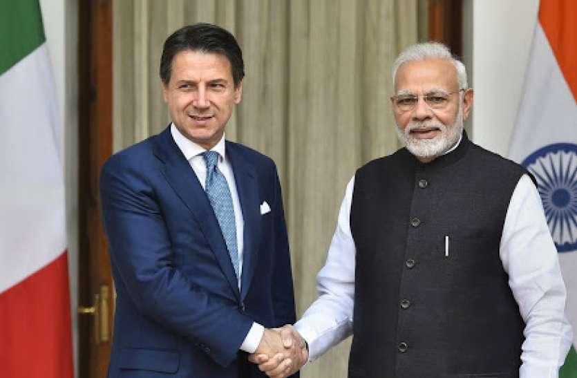 पीएम मोदी ने इटली के प्रधानमंत्री ग्यूसेप कोटे को मदद का दिया आश्वासन, कोविड-19 पर की चर्चा
