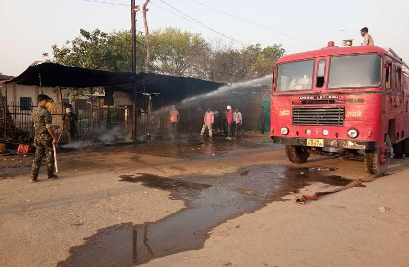 सब्जी मंडी में लगी आग, तीन दुकानों में लाखों की क्षति