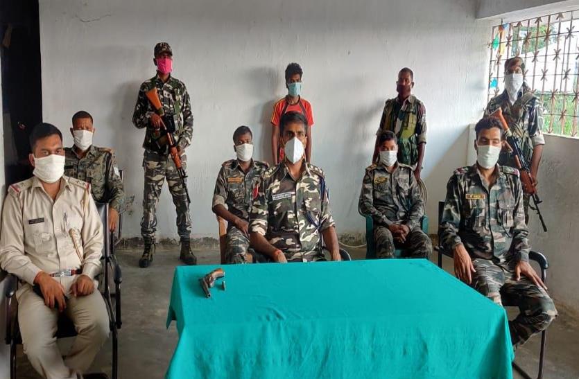 हार्डकोर माओवादी हथियारों के साथ गिरफ्तार, गंभीर मामलों में था वांछित