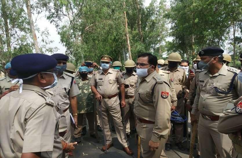 बॉर्डर पर उलझी यूपी व राजस्थान पुलिस, डीएम व एसपी को संभालना पड़ा मामला