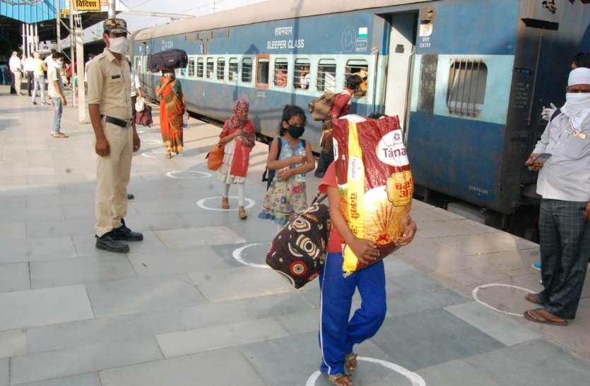 तेलंगाना से श्रमिक ट्रेन से आए मप्र के 30 जिलों के 1160 मजदूर