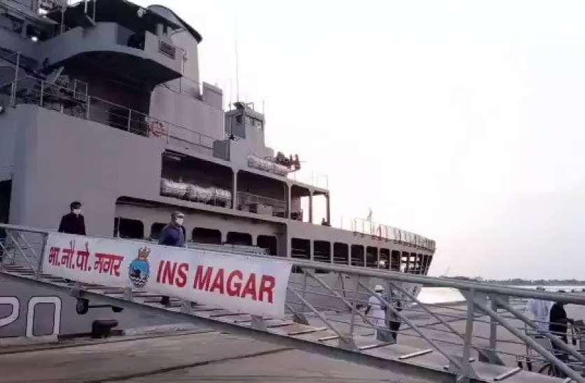 मालदीव से लौटे 202 भारतीय, INS मगर लेकर पहुंचा कोच्चि