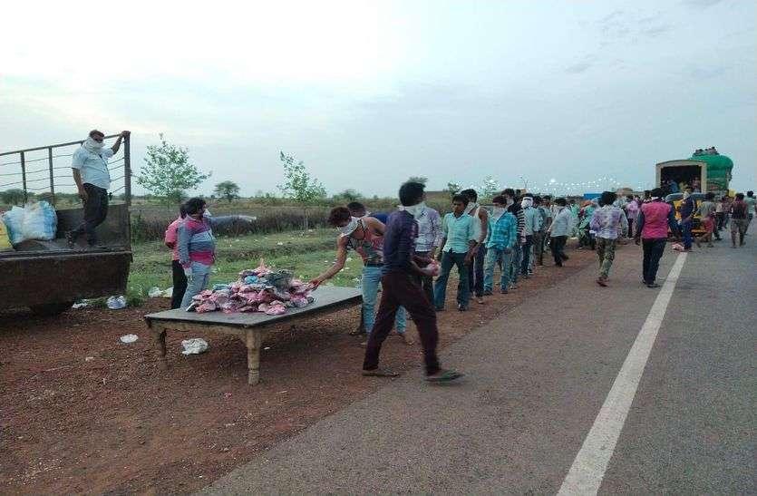 जिले में बड़े स्तर पर हुआ सेवाभावी कार्य 50 हजार को भोजन पैकेट बांटे