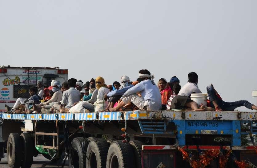 बेअसर साबित हो रहे सरकार के दावे,परेशानियों में प्रवासी श्रमिक