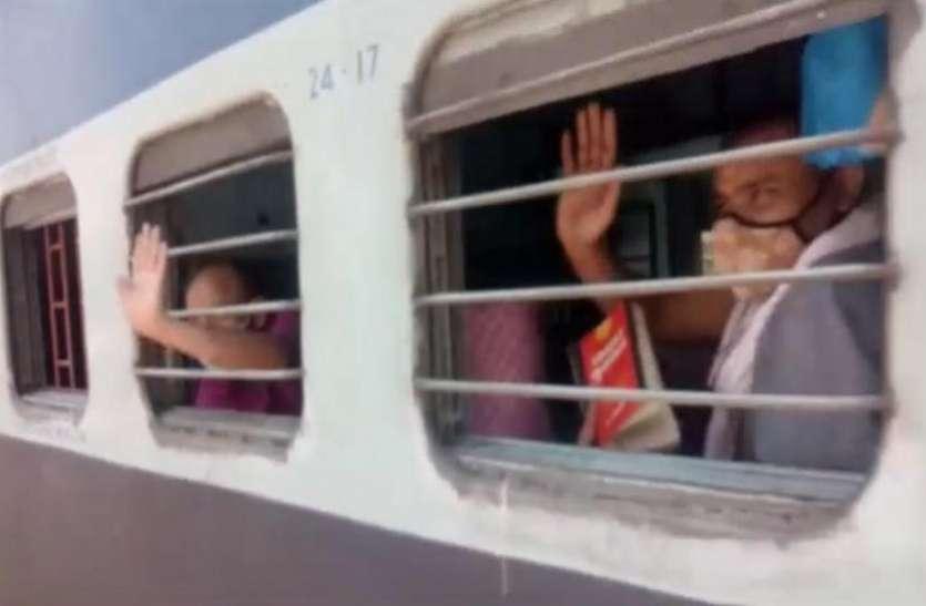 Special: प्रवासी मजदूरों को लेकर श्रमिक स्पेशल ट्रेनबिहार के लिए रवाना,मजदूरो ने नोएडा को कहा 'टाटा'