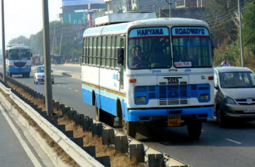 कोरोना का खौफ: रोड़वेज की बसें खाली दौड़ी, पंचकूला-करनाल रूट पर केवल एक यात्री ने किया सफर