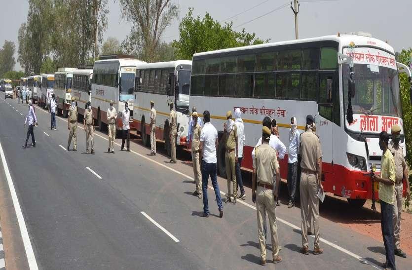 श्रमिक बसों को लेकर भरतपुर बना सियासत का केंद्र