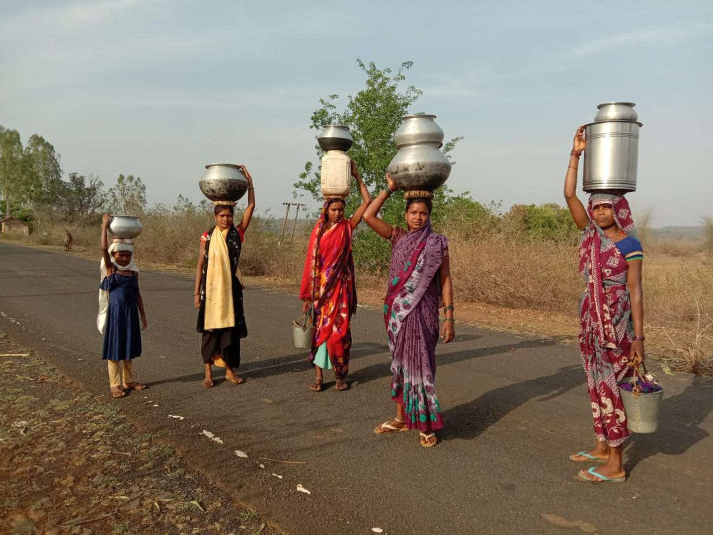 Women have to bring water from two km away