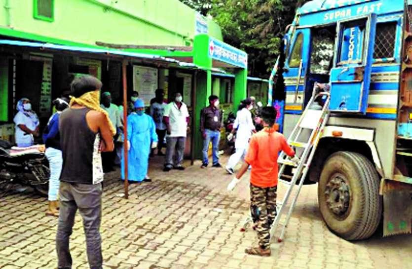 हैदराबाद से लौट रहे ट्रक में खलासी की मौत, डोंगरगांव अस्पताल में मचा हड़कंप