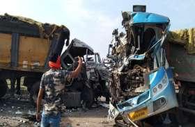 पुणे से झारखंड जा रहे प्रवासी श्रमिकों की बस ट्रेलर से टकराई, ड्राइवर समेत 3 की मौत, पांच गंभीर रूप से घायल