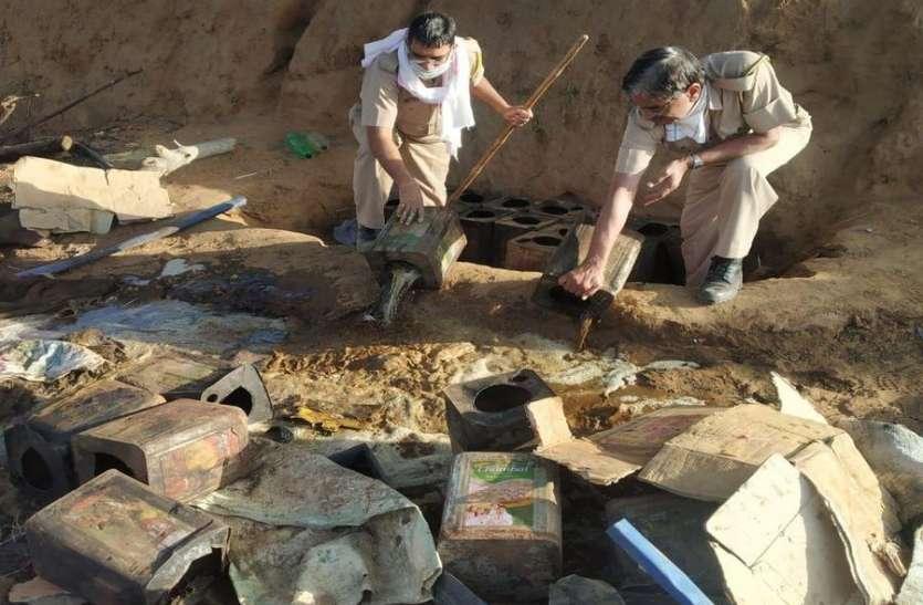 दस हजार लीटर वाश नष्ट,दो जनेगिरफ्तार