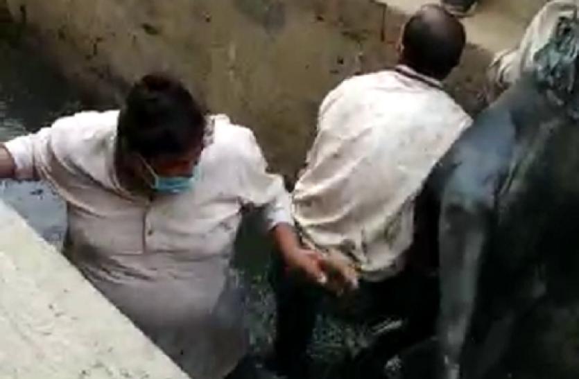 Bulandshahr: गाय को बचाने के लिए गंदे नाले में कूद पड़े BSP के पूर्व बाहुबली विधायक