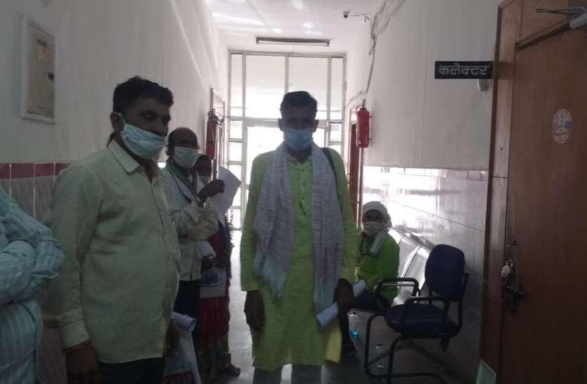उपार्जन केन्द्र पर तुलाई को लेकर किसान और संस्था प्रबंधक में झगड़ा