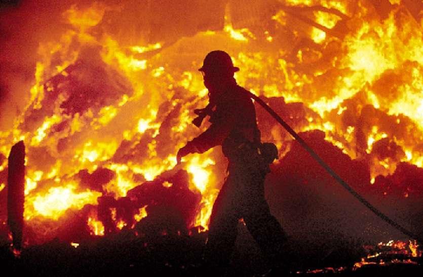 ऑयल पंप बंद होने पर गर्मी से बॉयलर में आग, पांच दमकलों से बड़ा हादसा टला