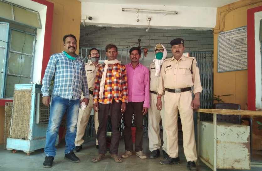 गर्दन पर कुल्हाड़ी मारकर की हत्या, पुलिस से बचने नाले में गाड़ा था शव, दो सगे भाई गिरफ्तार