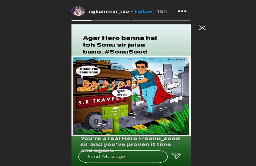 Rajkumar Rao Instagram Story