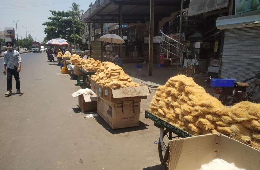 ईद पर सेवइयों का बाजार पड़ा सूना
