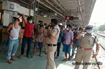 मजदूरों का हंगामा: आनंद विहार से पूर्णिया जा रही श्रमिक स्पेशल ट्रेन डेढ़ घंटा रुकी, यात्रियों ने शुरू की तोड़फोड़