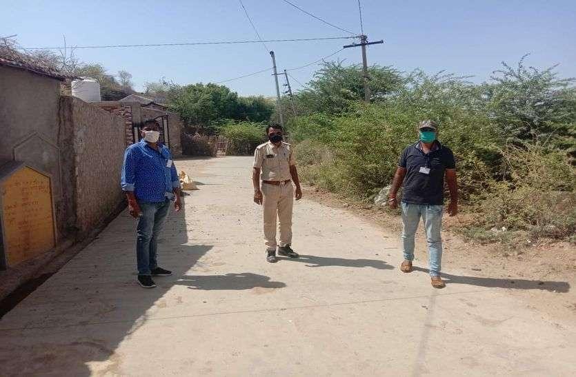 सनवाड़ा में घर-घर सर्वे जारी, पंचायत में अब तक 11 कोरोना पॉजिटिव, पूरे गांव में लगाया कफ्र्यू