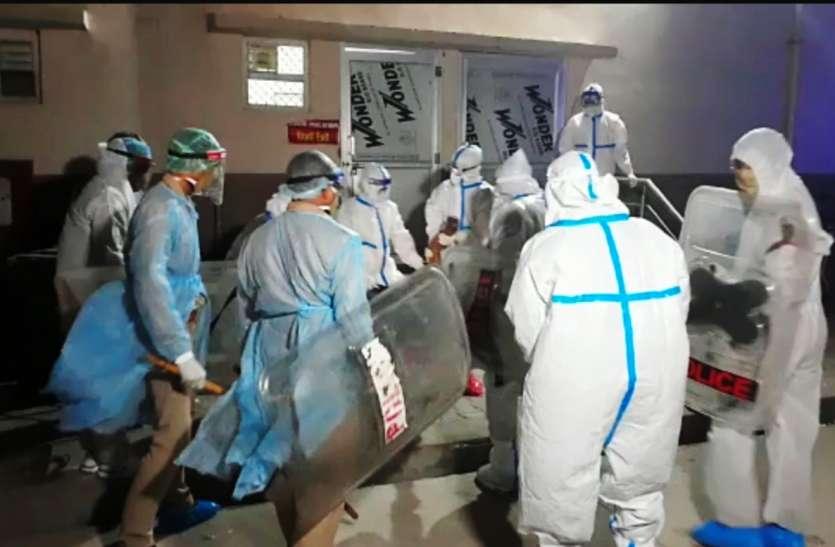 खिड़की तोड़कर अस्पताल के कमरे से कूदने वाले कोरोना पॉजीटिव मरीज की मौत