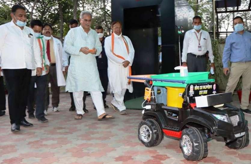 सीएम ने रोबोट नर्स का शुभारंभ कर एम्स रायपुर को सौंपा