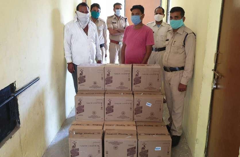 इंदौर में पकड़ाई तीन लाख की अवैध शराब