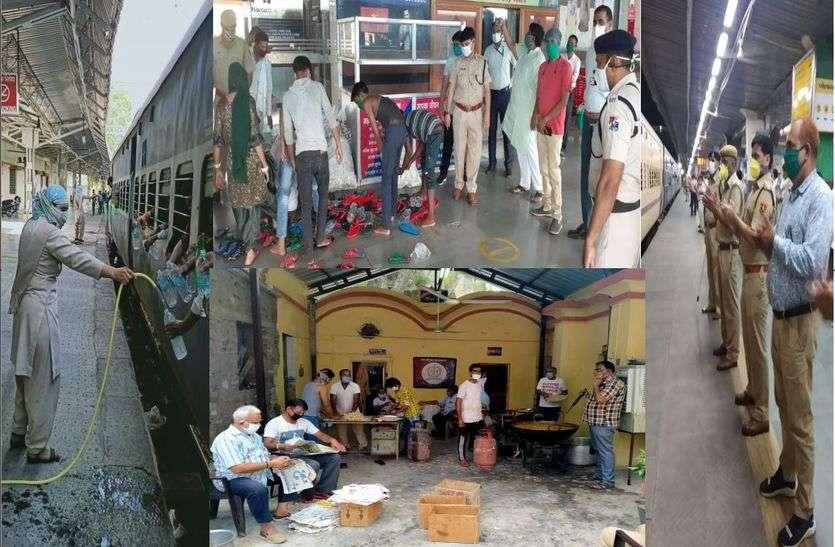 सेवा में जुटे हैं जीआरपी के 700 कर्मवीर