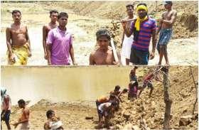 शासन प्राशासन ने नही सुनी ग्रामीणों की गुहार तो, लोगो ने खुद ही किया तालाब खुदाई का श्रीगणेश