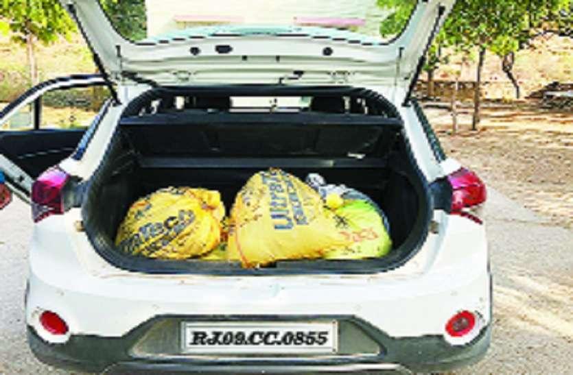 टोल नाकों पर दबिश देकर 231 किलो अफीम, 58 क्विंटल डोडा चूरा पकड़ा