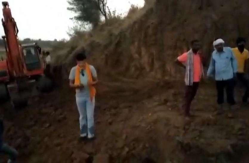 मशीन से रेत खनन का विरोध करने वालों से भाजपा नेता ने की मारपीट