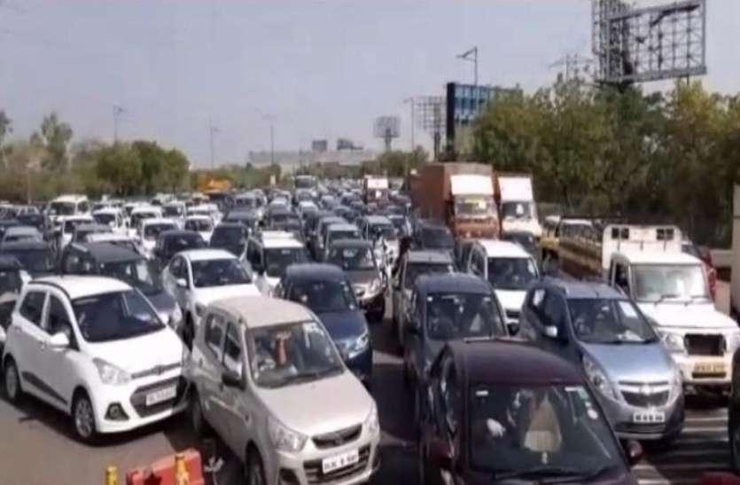 सुबह से शाम जाम ही जाम,नोएडा के बाद अब दिल्ली की सीमा भी सील,लोग हो रहे परेशान