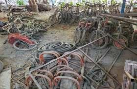 नगर निगम की लापरवाही: हरियाणा में लाखों रुपए की साइकिलें कबाड़ में तब्दील