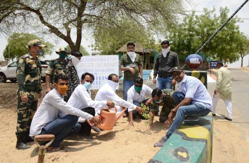 बॉर्डर पर पौधरोपण का आगाज, जवानों ने लिया रक्षा का संकल्प