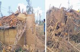 कोरोना के बाद तूफान का कहर, गरीबों को सिर छिपाने को छप्पर तक नहीं, अधिकारी दे गए आश्वासन