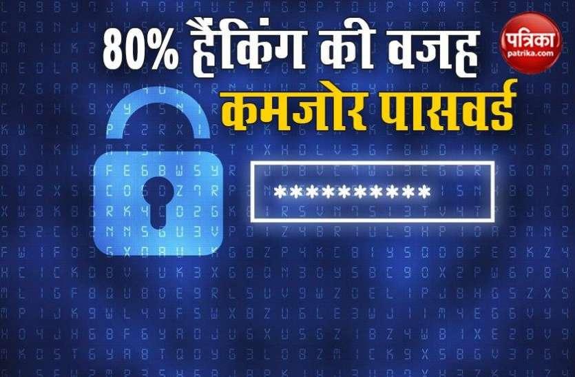 80% अकाउंट हैकिंग की वजह कमजोर Password, जानें बचने का तरीका