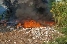 पड़ताल : इस जिले में सड़क किनारे जलाया जा रहा है हर राेज प्लास्किट कूड़ा, आबाेहवा हाे रही जहरीली
