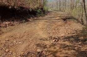 खतरनाक हुआ ग्राम खुदरी पहुंच मार्ग, गांव तक नहीं पहुंच पा रही जननी एक्सप्रेस